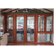 China European Design Aluminium Clad Wood Door