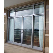 Balcony aluminum sliding aluminum frosted glass door