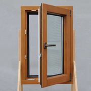 China Lowest price aluminum composite wood window