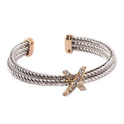 Twisted Triple Layering Metal Alloy Bracelet Cuff from China (mainland)
