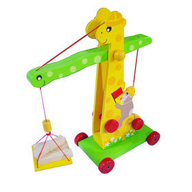 Cartoon wooden kids toy crane from China (mainland)