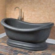 Wholesale adult hand-carving black marble stone bathtub, adult hand-carving black marble stone bathtub Wholesalers