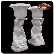 Wholesale White Marble Large Stone Garden Flowerpot, White Marble Large Stone Garden Flowerpot Wholesalers