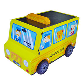 2016 new design funny wooden school bus toys from China (mainland)