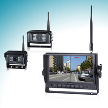 Wireless Backup Camera System with Dual/Quad/Auto-scan/Single Display Mode/Automatic Pairing/IP69K