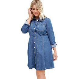 Plus Size Denim Shirt Dress Manufacturer