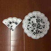 Color printing flower shape napkin from China (mainland)