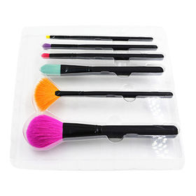 Makeup Brush Set 6pc colorful with Natural Hair from Shenzhen Rejolly Cosmetic Tools Co., Ltd.