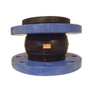 Single ball flexible rubber joint