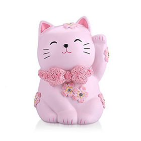 Personalized Cute Pink Lucky Cat Piggy Bank Home from China (mainland)