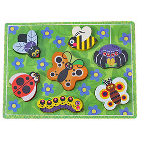 Educational insects toy wooden learning shape