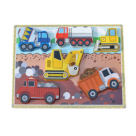 Educational car puzzle wooden learning shapes from China (mainland)