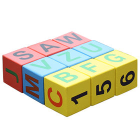 China 2016 new design educational letters wooden blocks for toddlers W14B071