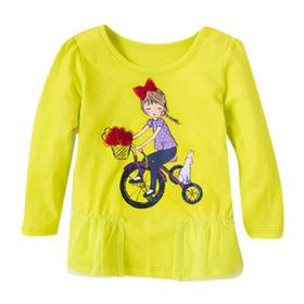 Girls' short-sleeved T-shirts from China (mainland)