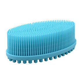 Silicone shower massage brush