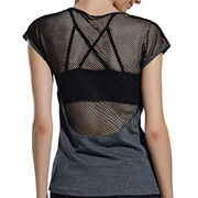 China Ladies' Tank with Mesh