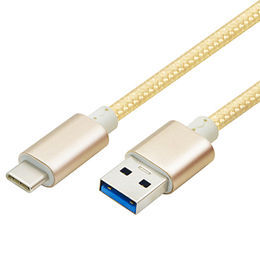 USB Type-C to Type-A Cable with Braided Jacket from Zhongshan Winner Electronic Technology Co. Ltd