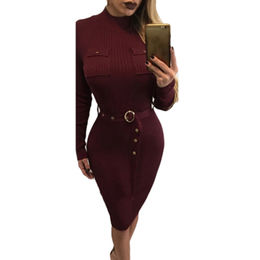 Knitted Midi Dress from China (mainland)