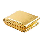 Hong Kong SAR Emergency Blanket Made of Aluminum Film in Gold Color. Size of 160 x 210 cm.