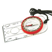 Hong Kong SAR Map Compass with Magnifying Glass, Ruler & Millimeter. Made of Acrylic Housing. Included Lanyard