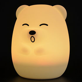 China USB Rechargeable Multi Color Silicone Soft Cat Night Lights with Warm White and Breathing Modes