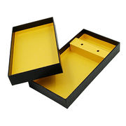 Customized Men's Tie Handkerchief and Cufflink Packaging Boxes