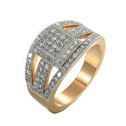 China Factory directly sale new gold men silver 925 made diamond/18k gold plated gay men rings
