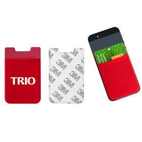 Microfiber mobile phone card holder from Hot and Cold Products Co. Ltd