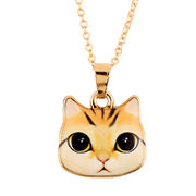 2017 New Arrival Alloy Colorful Kitty Animal Necklace for Women Gifts