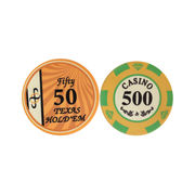 Round casino chips from China (mainland)