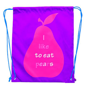 Promotional polyester drawstring bag from China (mainland)