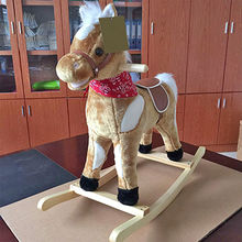 Wooden antique rocking horse from China (mainland)
