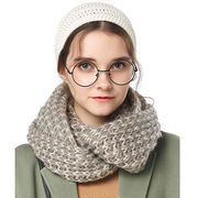Style winter snood with fringe from Hangzhou Willing Textile Co. Ltd
