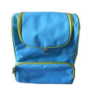 Small Blue cooler bag with green zippers from SHANGHAI PROMO COMPANY LIMITED