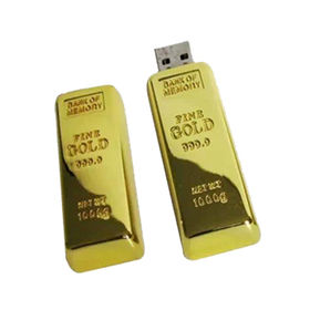 China New Arrival Gold Bar USB Flash Drive