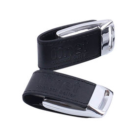 Leather Style USB Flash Disk from China (mainland)