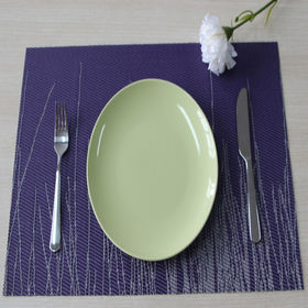 2016 New style table mat and orange vinyl plastic kitchen placemats from Ningbo Yinzhou Yichuan Artware Co. Ltd