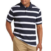 China Classic men's cotton polo collar striped T-shirt