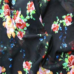 Printed 100D polyester chiffon fabric from China (mainland)