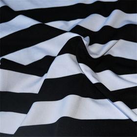 100% cotton yarn dyed stripe single jersey fabric
