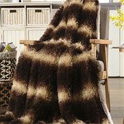China Long curly long hair professional fake fur blanket