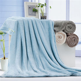 Hotel plain dyed coral fleece blanket from China (mainland)