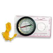 Hong Kong SAR Acrylic Map Compass with Ruler and Magnifying Glass