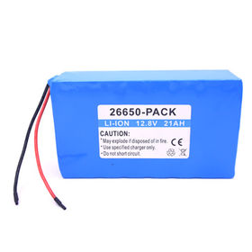 China Lithium Iron Phosphate Battery Pack, 12.8V 21Ah Soft Pack, 22650 Cell, UL1642 CE Comply