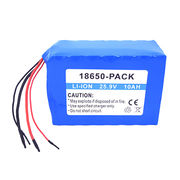 Lithium-ion battery pack, 25.9V/10Ah, soft pack, 18650 cell UL 1642 CE comply