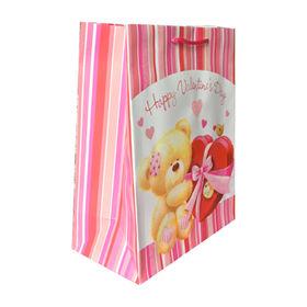 China Art Paper Handmade Gift Packaging Bag with Glitter