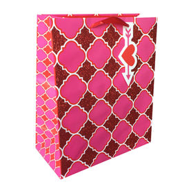 China Handmade paper gift bag with glitter
