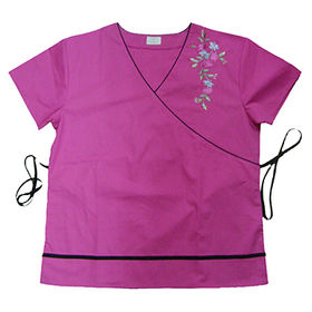 Embroidery medical scrub top