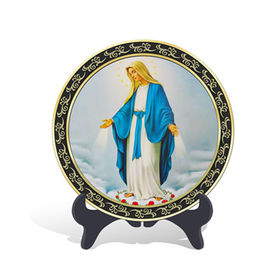 China New Activated Carbon Carving Craft, Catholic Assumption of Virgin Mary plate