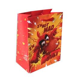 China Art paper handmade gift bag with gloss lamination